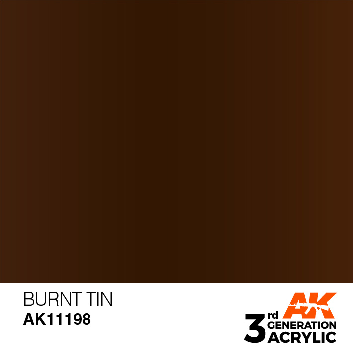 AK-Interactive Burnt Tin Acrylic Modelling Color - 17ml - AK-11198