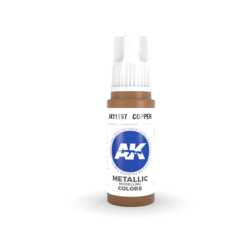 Copper Acrylic Modelling Color - 17ml - AK-11197