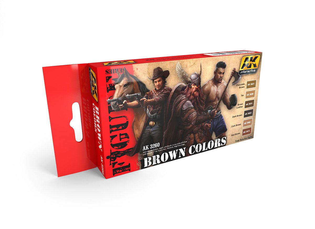 AK-Interactive Brown Colors - AK-3260
