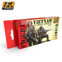 Vietnam U.S. Green & Camouflage - AK-3200