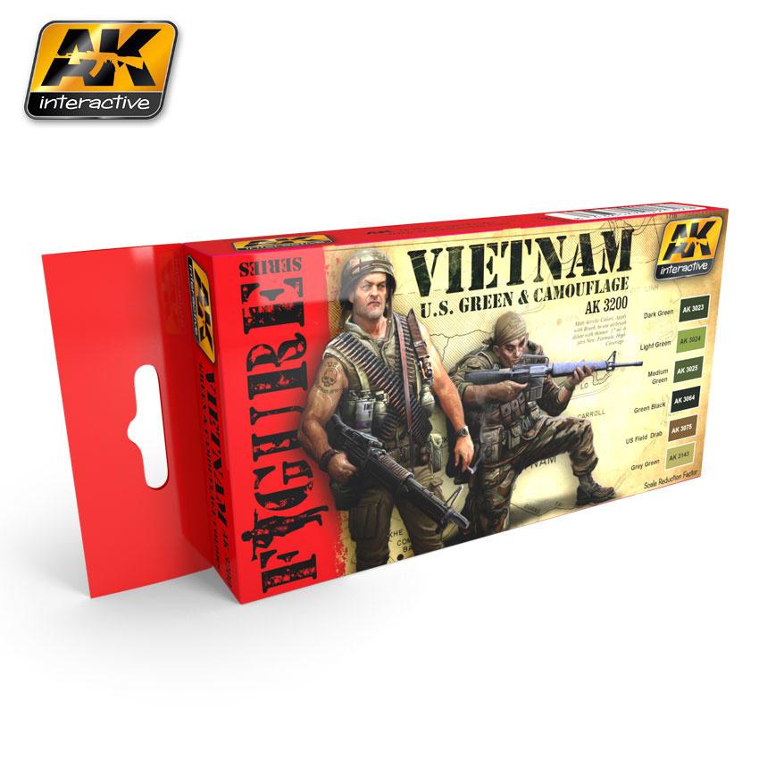 AK-Interactive Vietnam U.S. Green & Camouflage - AK-3200