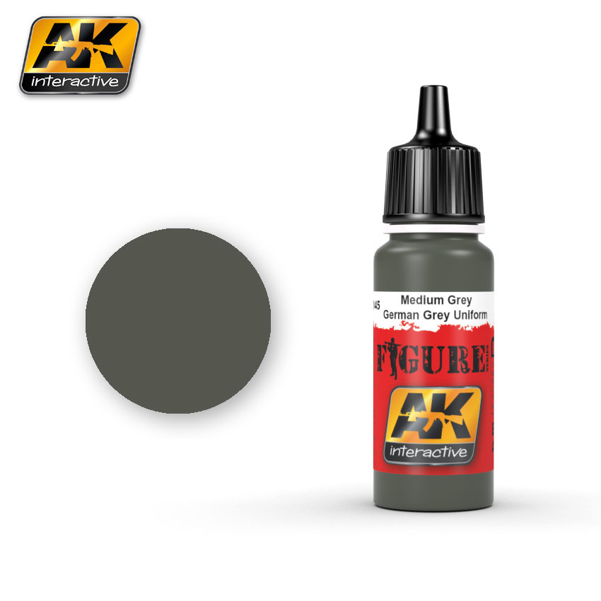 AK-Interactive Medium Grey / German Grey Uniforms - 17ml - AK-3145