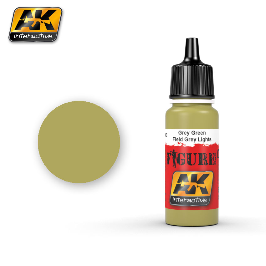 AK-Interactive Grey Green / Field Grey Lights - 17ml - AK-3143