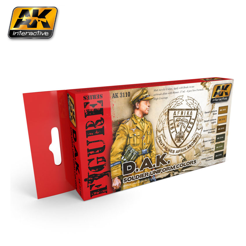AK-Interactive D.A.K. Soldier Uniform Colors - AK-3110