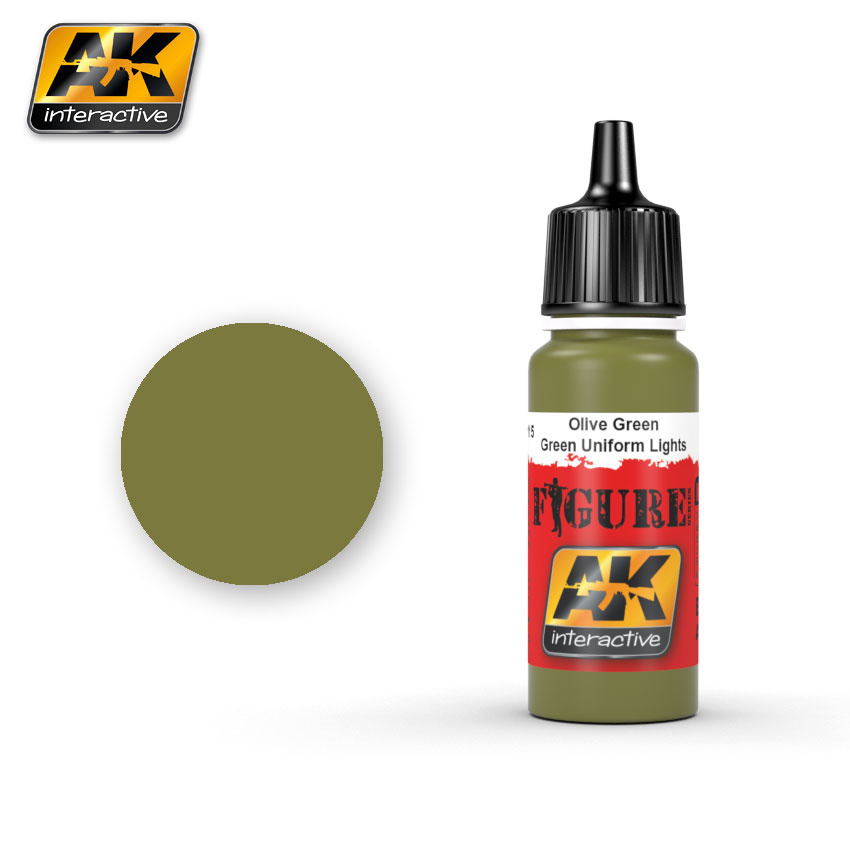 AK-Interactive Olive Green / Green Uniform Lights - 17ml - AK-3115