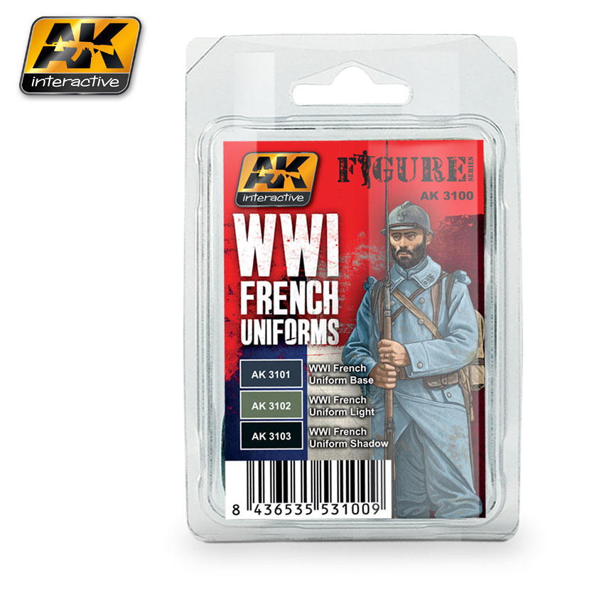 AK-Interactive WWI French Uniforms Set - AK-3100