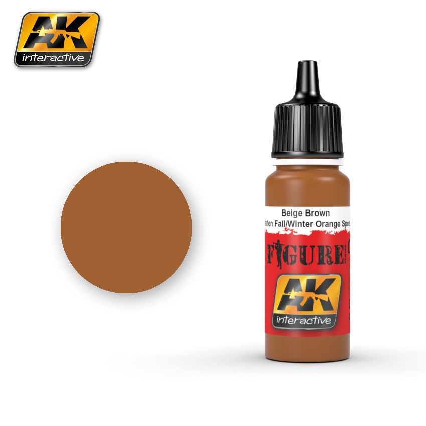 AK-Interactive Beige Brown Waffen Fall / Winter Orange Spots - 17ml - AK-3054