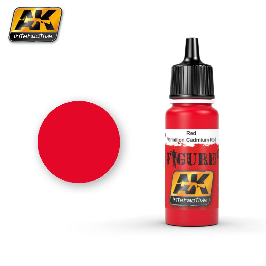 AK-Interactive Red / Vermilion Cadmium Red - 17ml - AK-3048