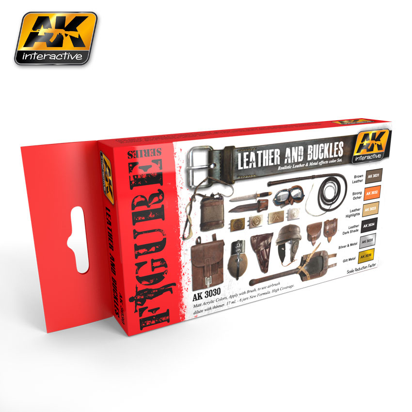 AK-Interactive Leather And Buckles Colors Set - AK-3030