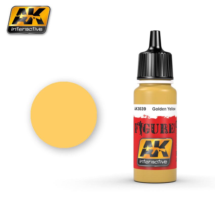 AK-Interactive Golden Yellow - 17ml - AK-3039