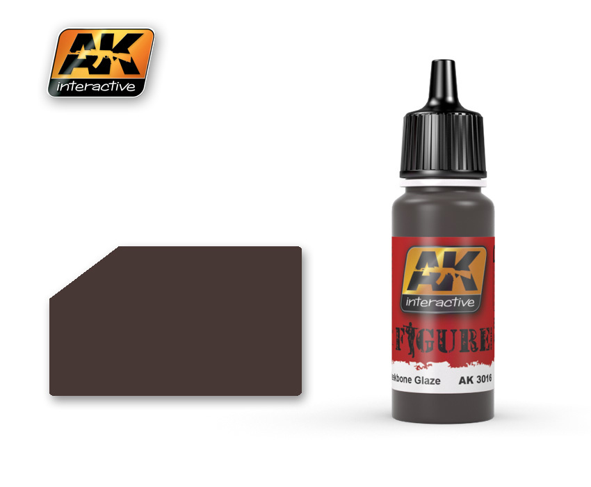AK-Interactive Reddish Black Cheekbone Glaze - 17ml - AK-3016