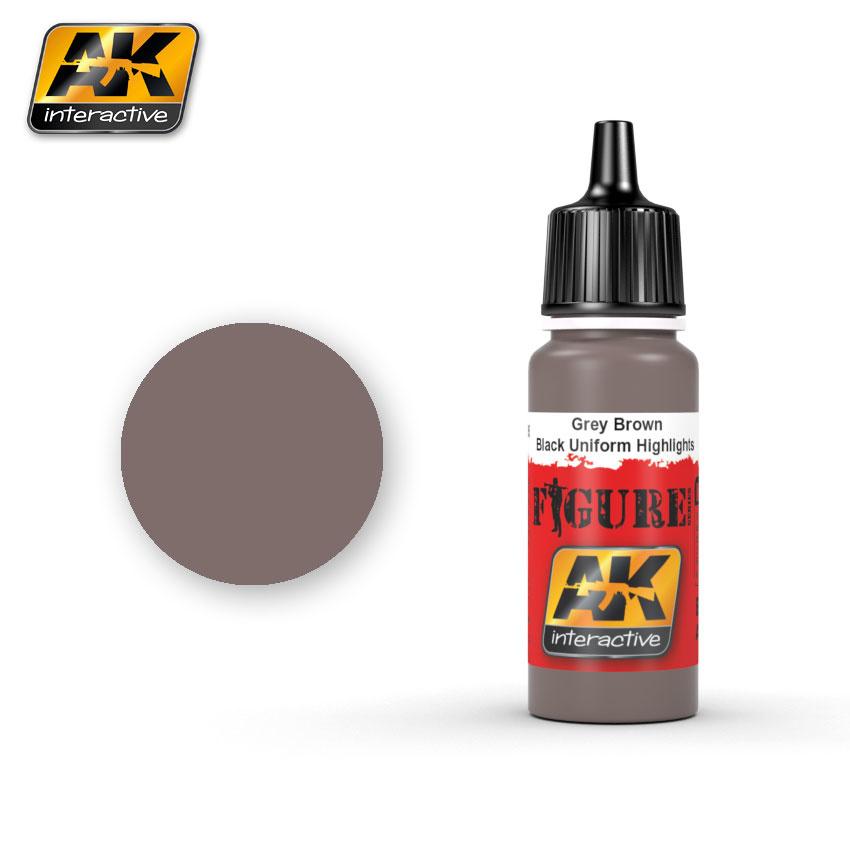 AK-Interactive Grey Brown / Black Uniform Highlights - 17ml - AK-3005