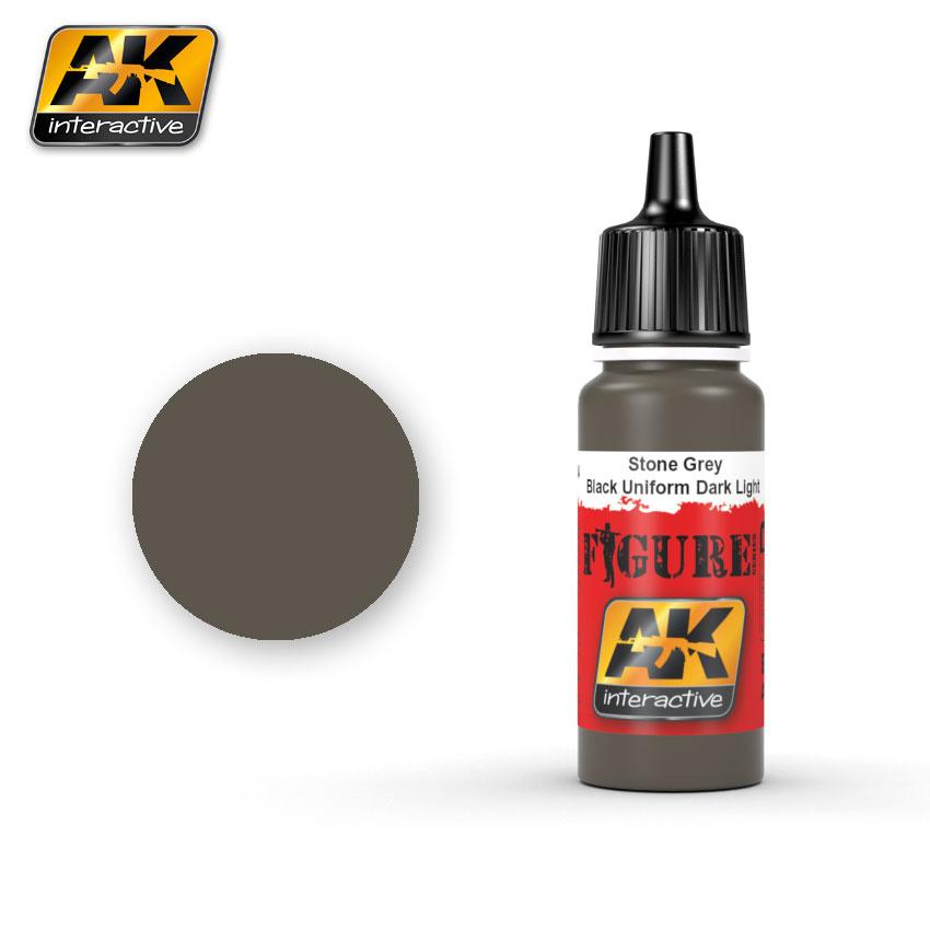 AK-Interactive Stone Grey / Black Uniform Dark Light - 17ml - AK-3004