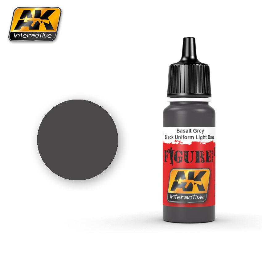 AK-Interactive Basalt Grey / Black Uniform Light Base - 17ml - AK-3003