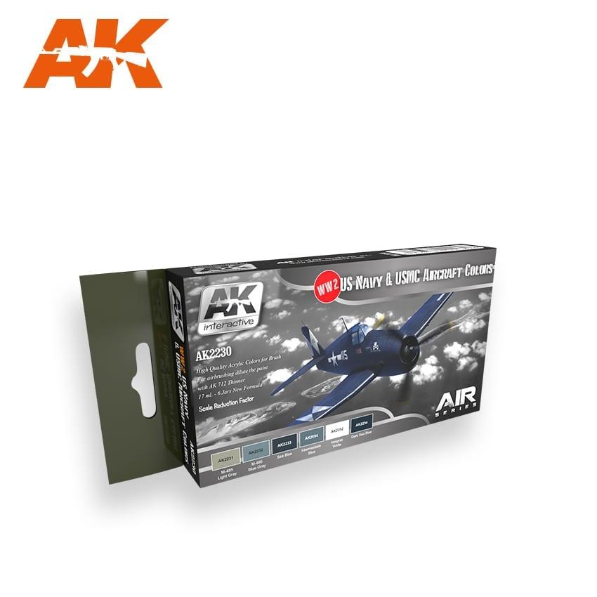 AK-Interactive WWII Us Navy & Usmc Aircraft Colors Set - AK-2230