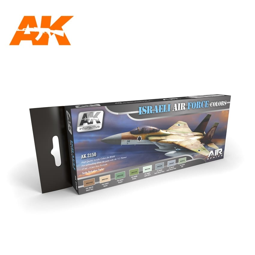 AK-Interactive Israeli Air Force Colors Set - AK-2150