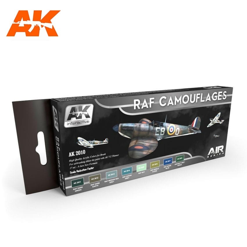 AK-Interactive Raf Camouflages Colors Set - AK-2010