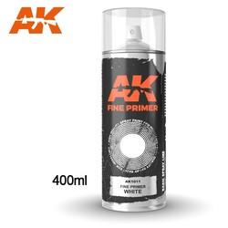 Fine Primer White - Spray 400ml (Includes 2 nozzles) - AK-1011