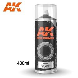 Fine Primer Black - Spray 400ml (Includes 2 nozzles) - AK-1009