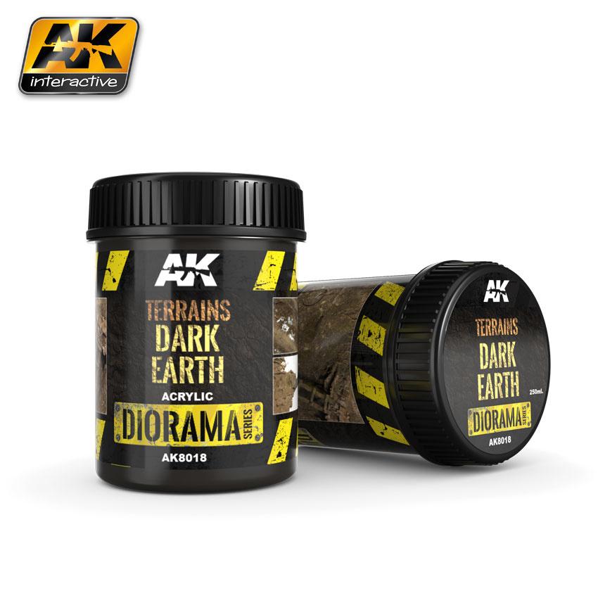 AK-Interactive Terrains Dark Earth - 250ml (Acrylic) - AK-8018