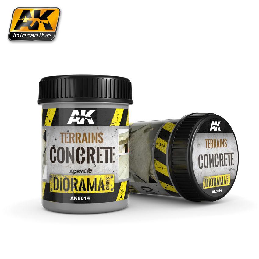 AK-Interactive Terrains Concrete - 250ml (Acrylic) - AK-8014