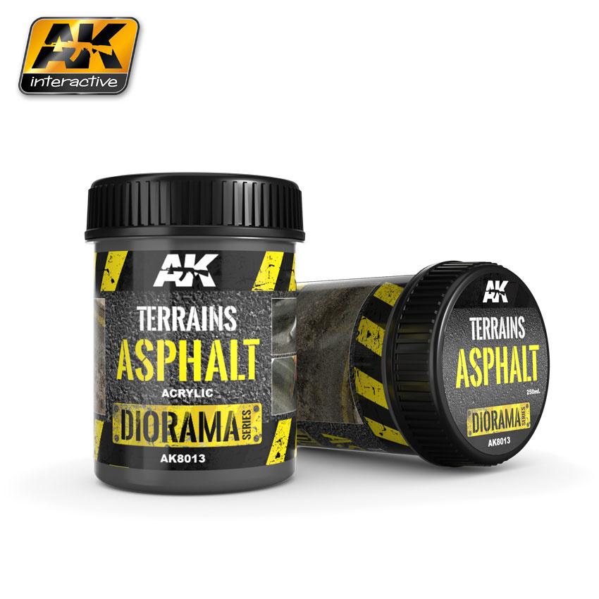 AK-Interactive Terrains Asphalt - 250ml (Acrylic) - AK-8013