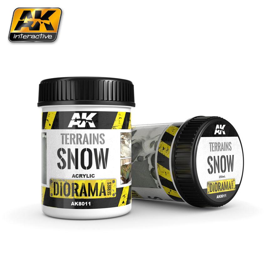 AK-Interactive Terrains Snow - 250ml (Acrylic) - AK-8011