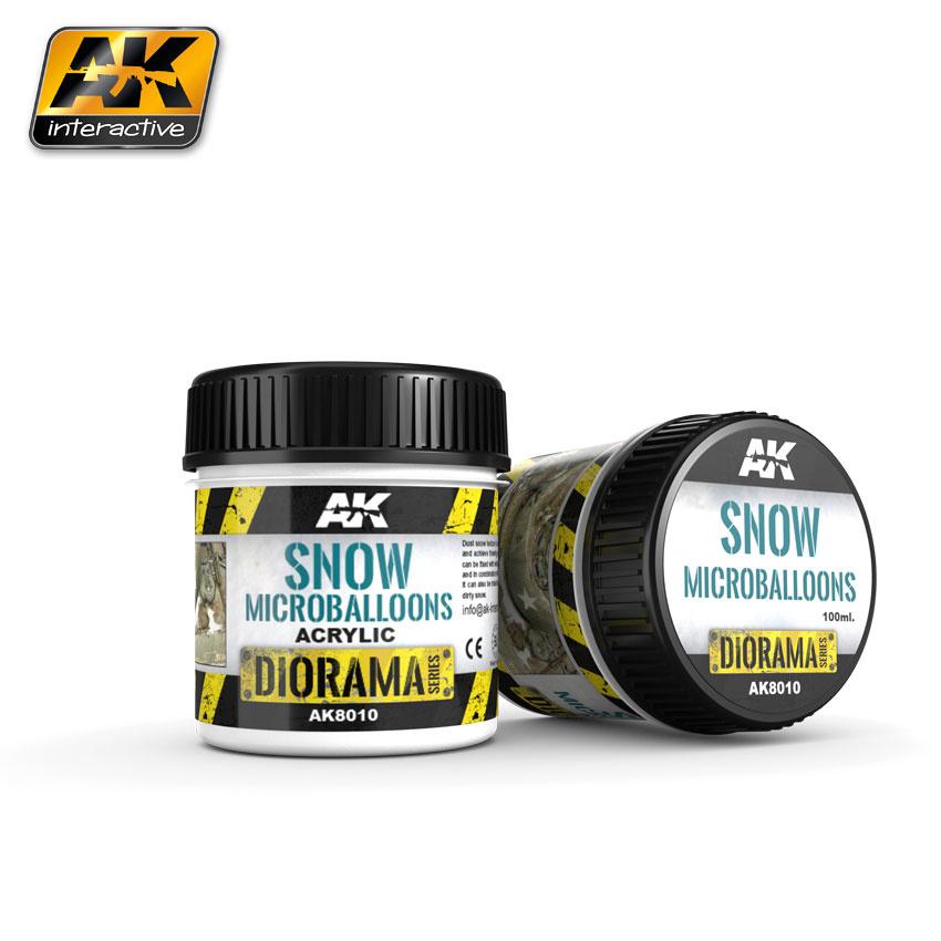 AK-Interactive Snow Microballoons - 100ml - AK-8010