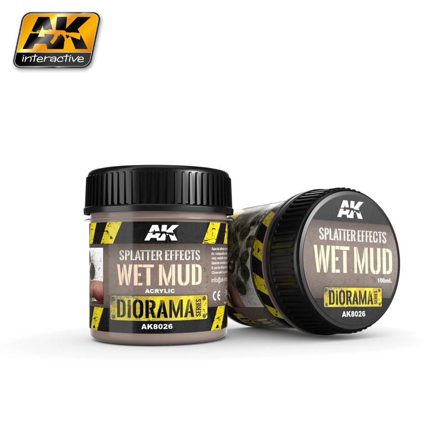 AK-Interactive Splatter Effects Wet Mud - 100ml - Base Product (Acrylic) - AK-8026