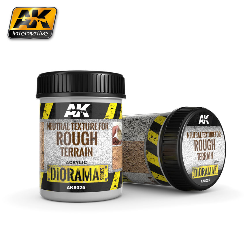 AK-Interactive Neutral Texture For Rough Terrains - 250ml - Base Product (Acrylic) - AK-8025