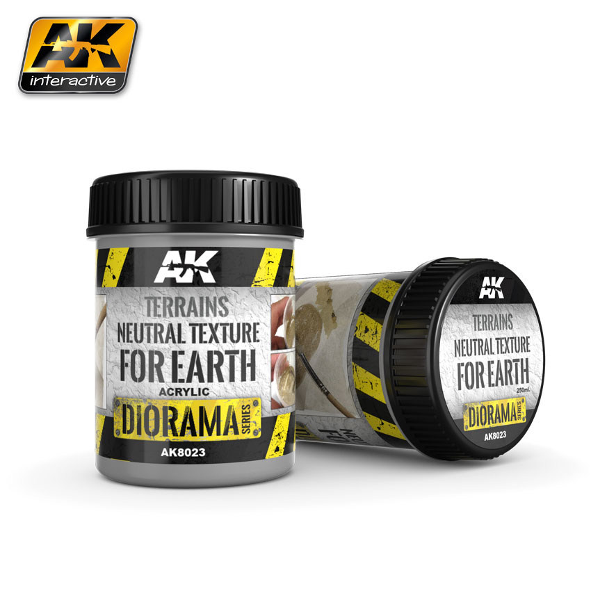 AK-Interactive Terrains Neutral Texture - 250ml (Acrylic) - AK-8023