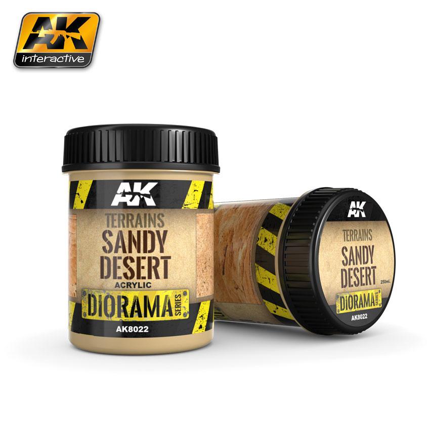 AK-Interactive Terrains Sandy Desert - 250ml (Acrylic) - AK-8022