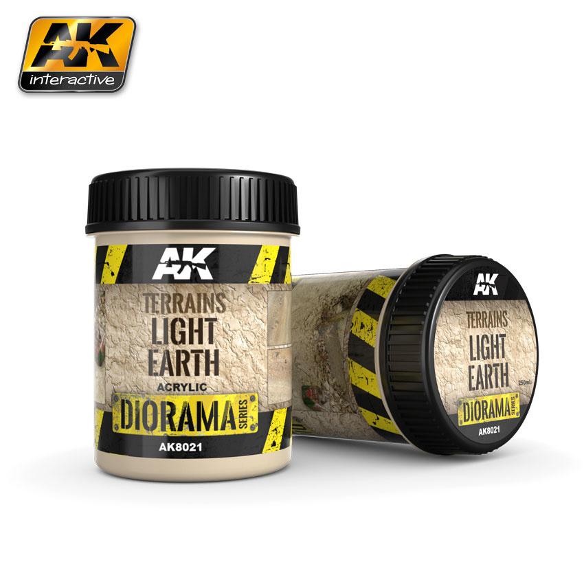 AK-Interactive Terrains Light Earth - 250ml (Acrylic) - AK-8021