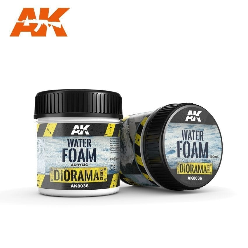 AK-Interactive Water Foam - 100ml (Acrylic) - AK-8036