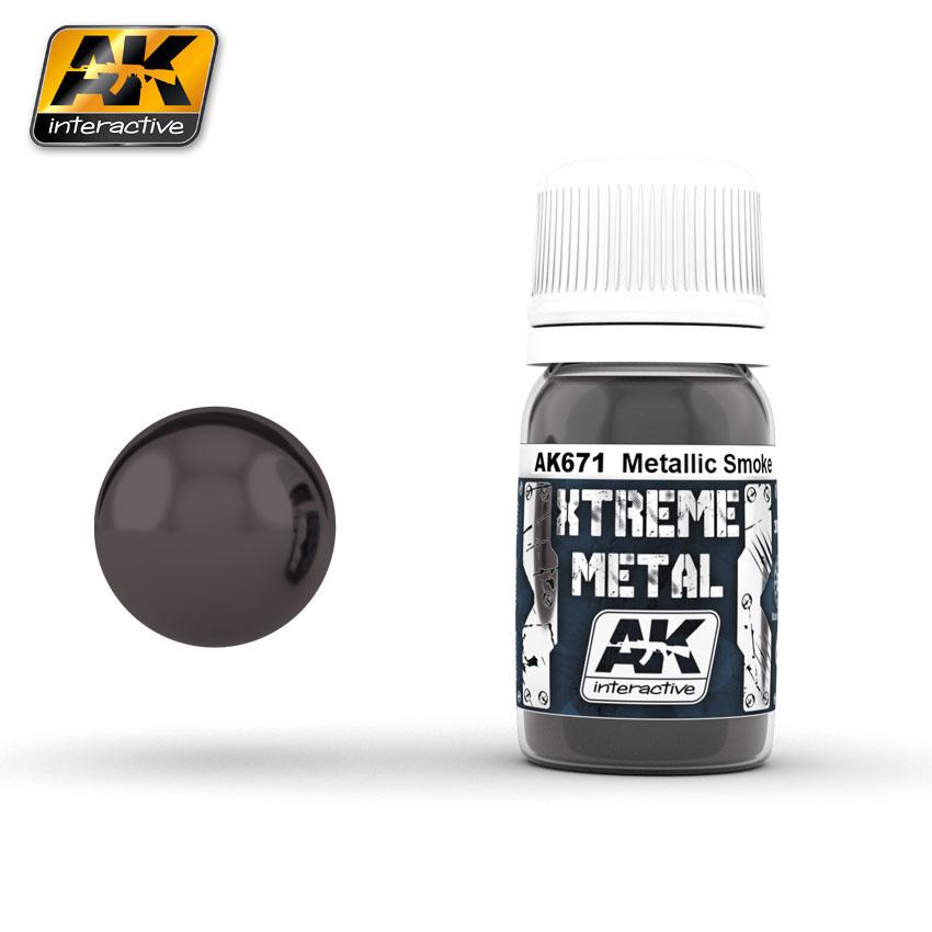AK-Interactive Smoke Metallic - 30ml - AK-671