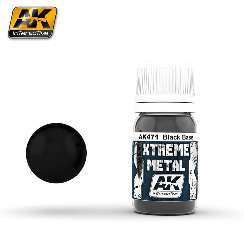 AK-Interactive Black Base - 30ml - AK-471