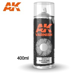 Semi-Gloss varnish - Spray 400ml (Includes 2 nozzles) - AK-1014