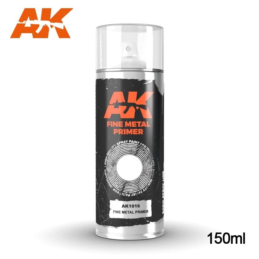 AK-Interactive Fine Metal Primer - Spray 150ml  - AK-1016