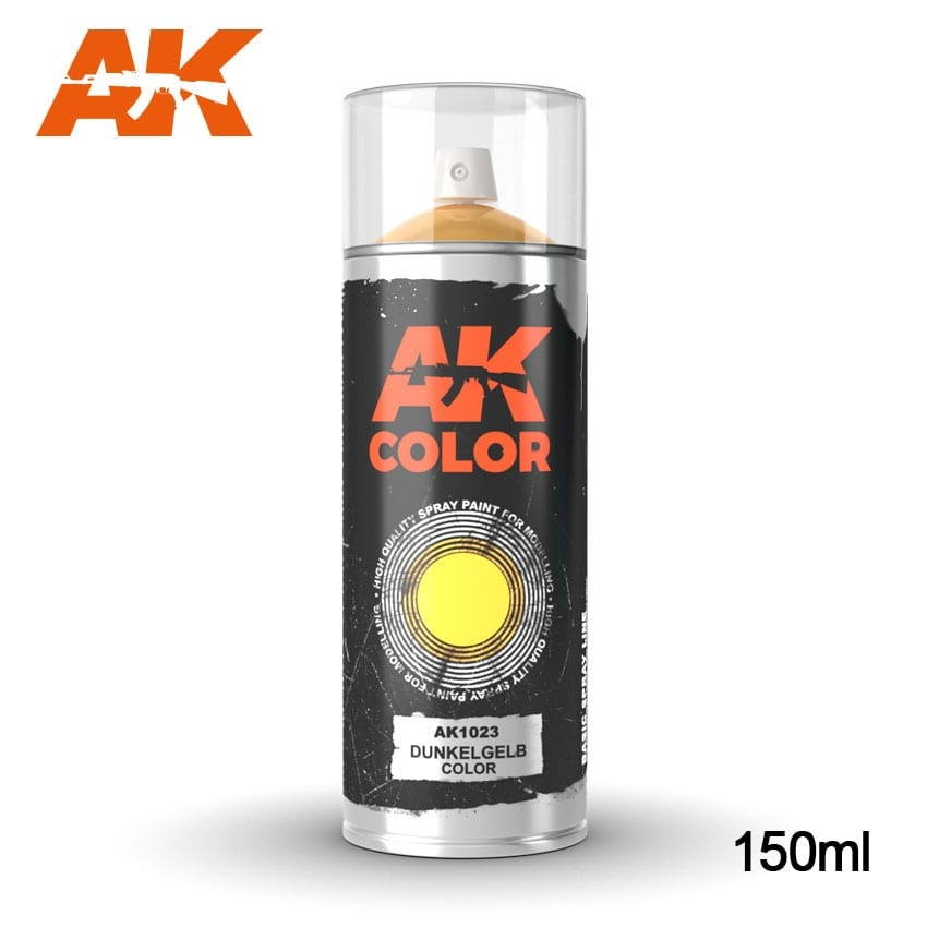 AK-Interactive Dunkelgelb color - Spray 150ml - AK-1023