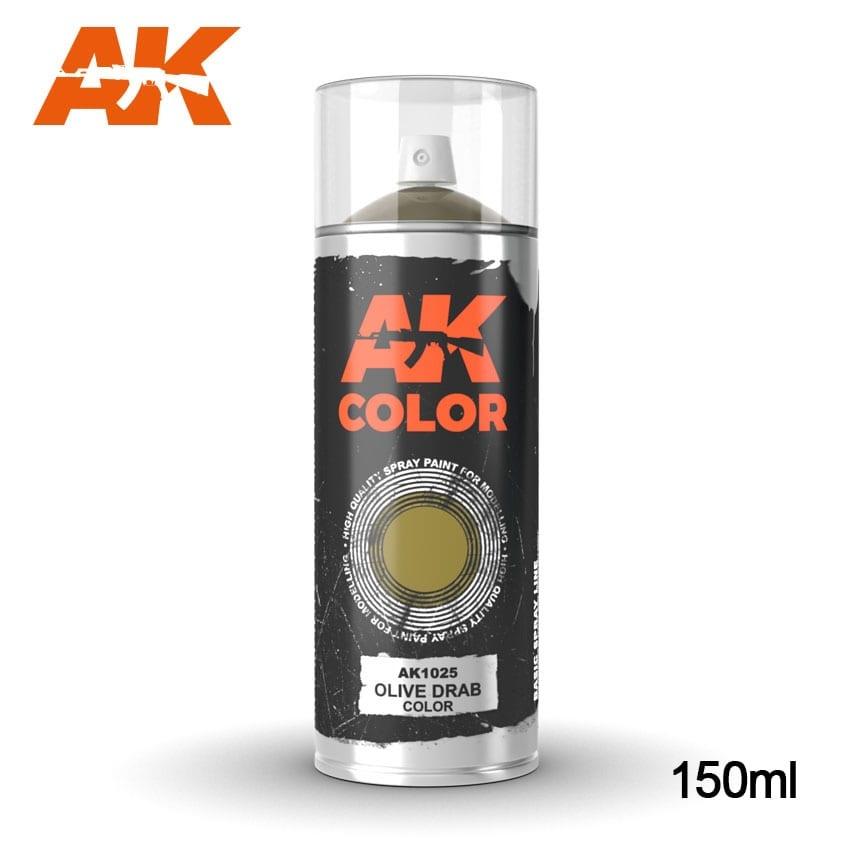 AK-Interactive Olive Drab color - Spray 150ml - AK-1025