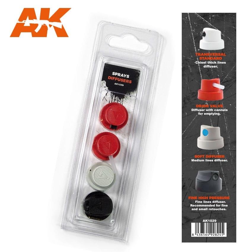 AK-Interactive Spray Difussers Set 2 - AK-1029
