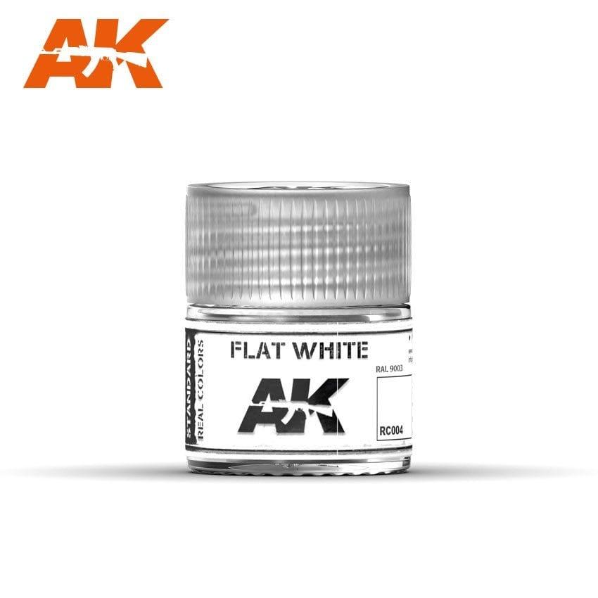 AK-Interactive Flat White RAL 9003 - 10ml - RC004