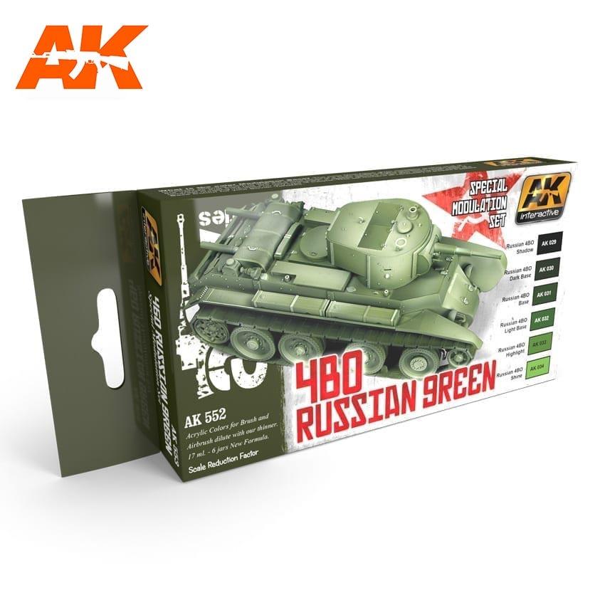 AK-Interactive 4Bo Russian Green Modulation Set - AK-553