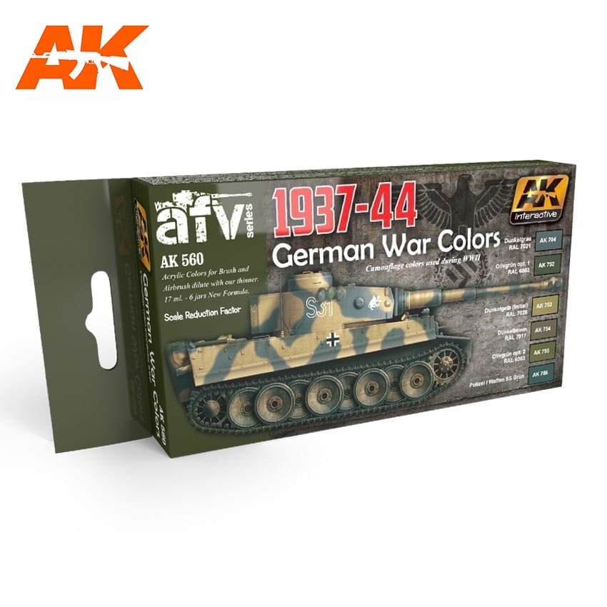 AK-Interactive 1937-1944 German Colors Set - AK-560