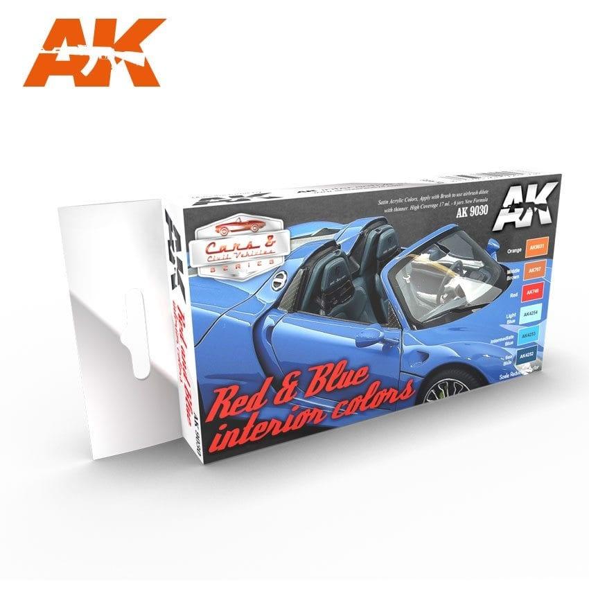 AK-Interactive Red & Blue Interior Colors Set - AK-9030