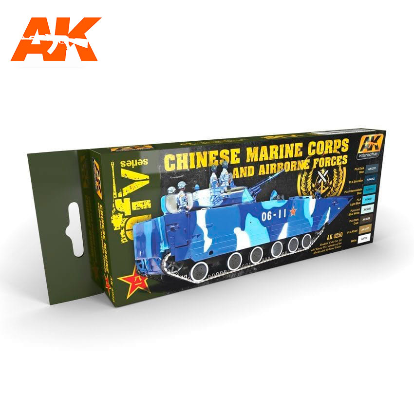 AK-Interactive Chinese Marine Corps And Airbone Forces Set - AK-4250
