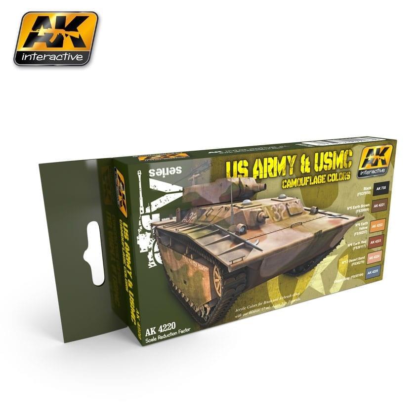 AK-Interactive Us Army & Usmc Camouflage Colors Set - AK-4220