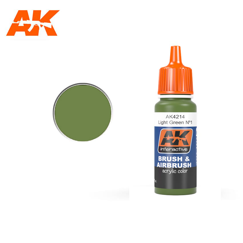 AK-Interactive Light Green N§1 (FS34151) - 17ml - AK-4214