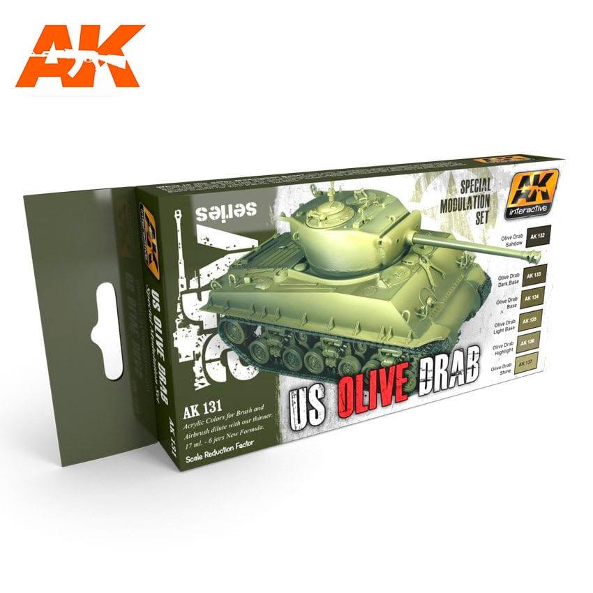 AK-Interactive Olive Drab Modulation Set - AK-131