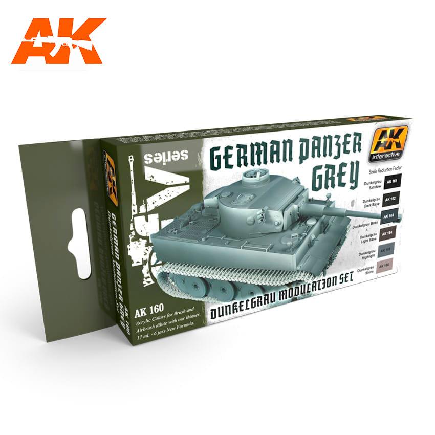 AK-Interactive Panzer Grey Modulation Set - AK-160